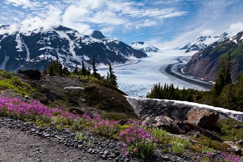 Salmon Glacier at Hyder Alaska.