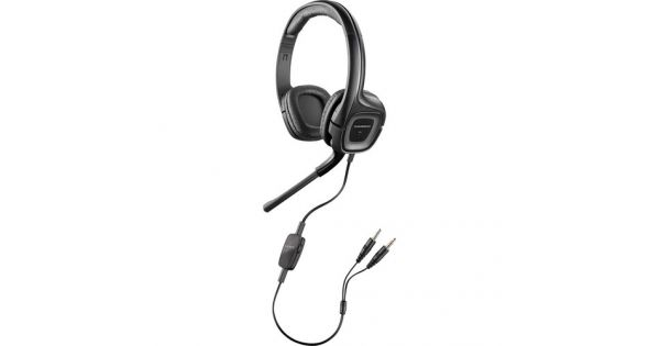Enjoy studio-quality voice and audio with the .Audio 355 Headset from Plantronics. Thanks to the 40mm speakers of this headset, you get rich, resonant