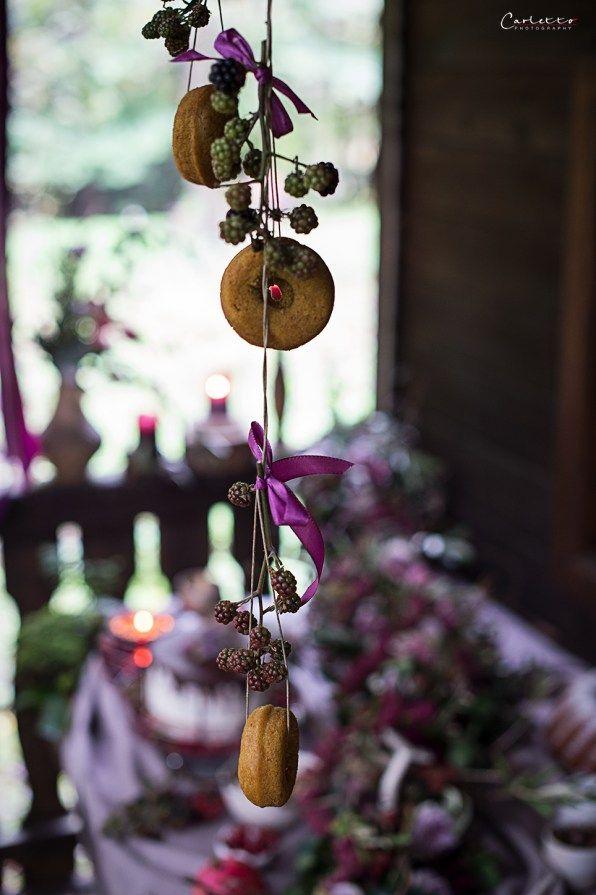Herbst, violett, pruple decoration, fall, floral deoration, fall decor, cake, floral garland, pumkin donuts, Kürbis Donuts
