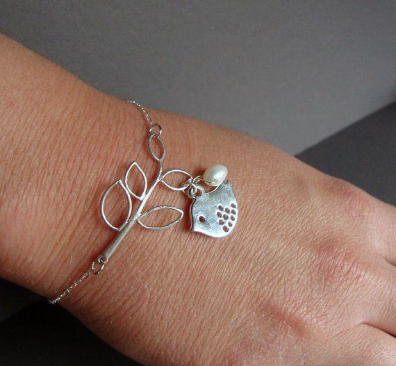 Sterling Silver Jewelry Bracelet  Branch by NewMorningJewelry, $29.00