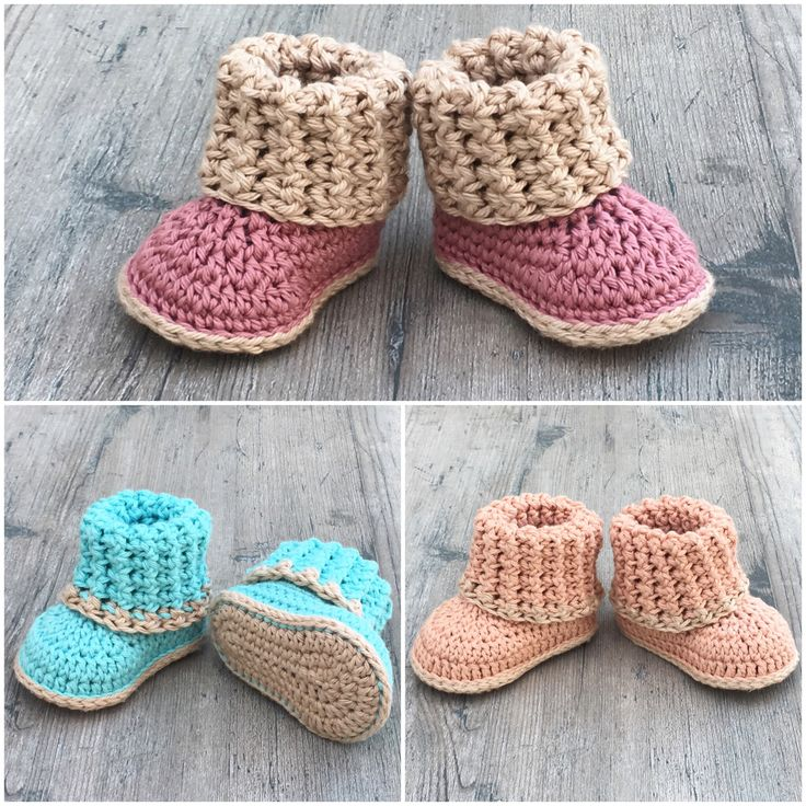 Cuffed Baby Booties- Crochet PATTERN- by A Frayed Knot Boutique