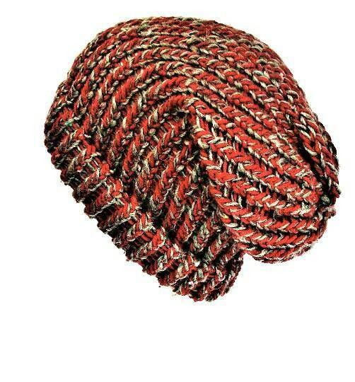 Red slouchy beanie, recycled yarn hat, slouchy beanie hat, winter beanie women, soft grunge beanie, red dreads hat, red and grey slouch hat #redslouchyhat #dreadlocktamunisex #sustainablefashion #lelsloom #etsy #recycledwool #redandgreyhat