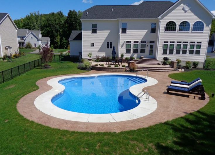 Best 25 pool shapes ideas only on pinterest pool for Pool design rochester ny