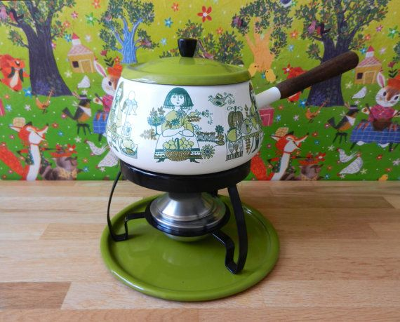 Vintage fondue set Figgjo Flint Norway Turi