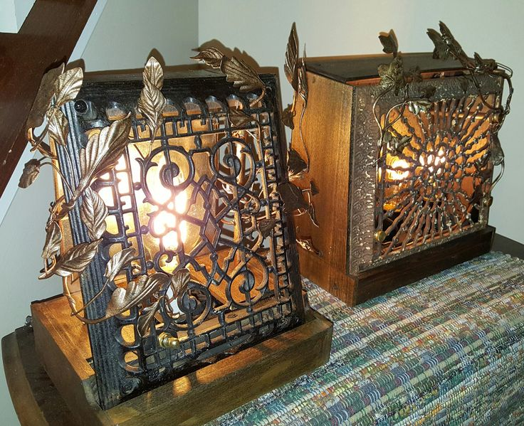 Glow of History - repurposed antique cast iron heating ...