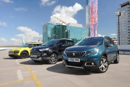 Peugeot 2008 vs Citroen C4 Cactus vs Ford EcoSport | Auto Express