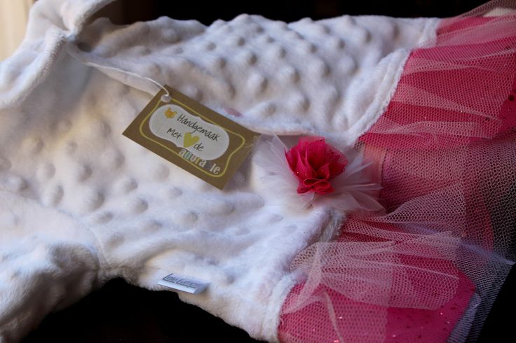 White and pink tutu top... Made with love