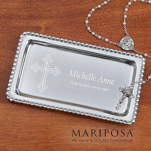 14291 - Mariposa® Inspirational Personalized Jewelry Tray