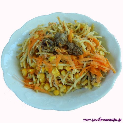 Spaghettisalat mit Gehacktem