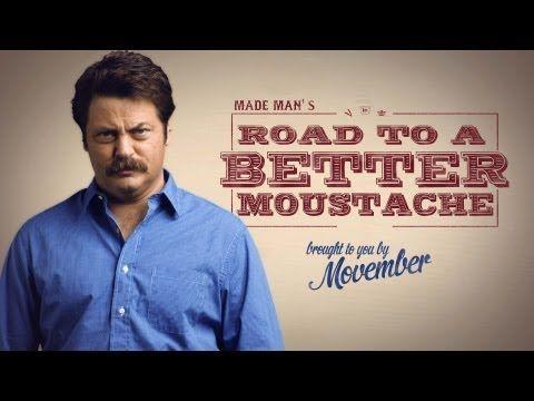 How to Grow a Moustache with Nick Offerman ht @Joe Koufman