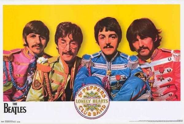 The Beatles Sgt Peppers Band Poster 22x34