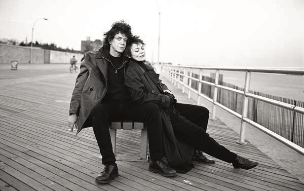 Lou Reed and Laurie Anderson by Annie Leibovitz, Coney Island, New York 1995.