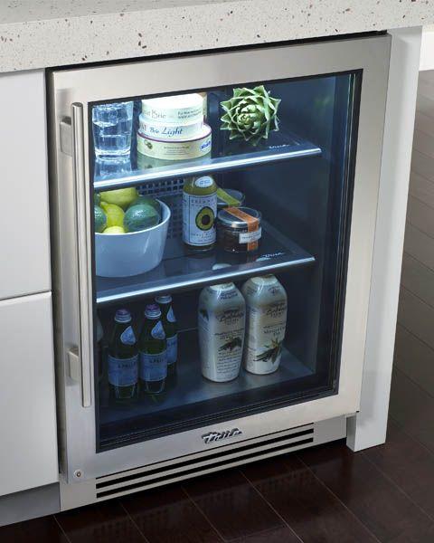 True Residential Undercounter Refrigerator Glass