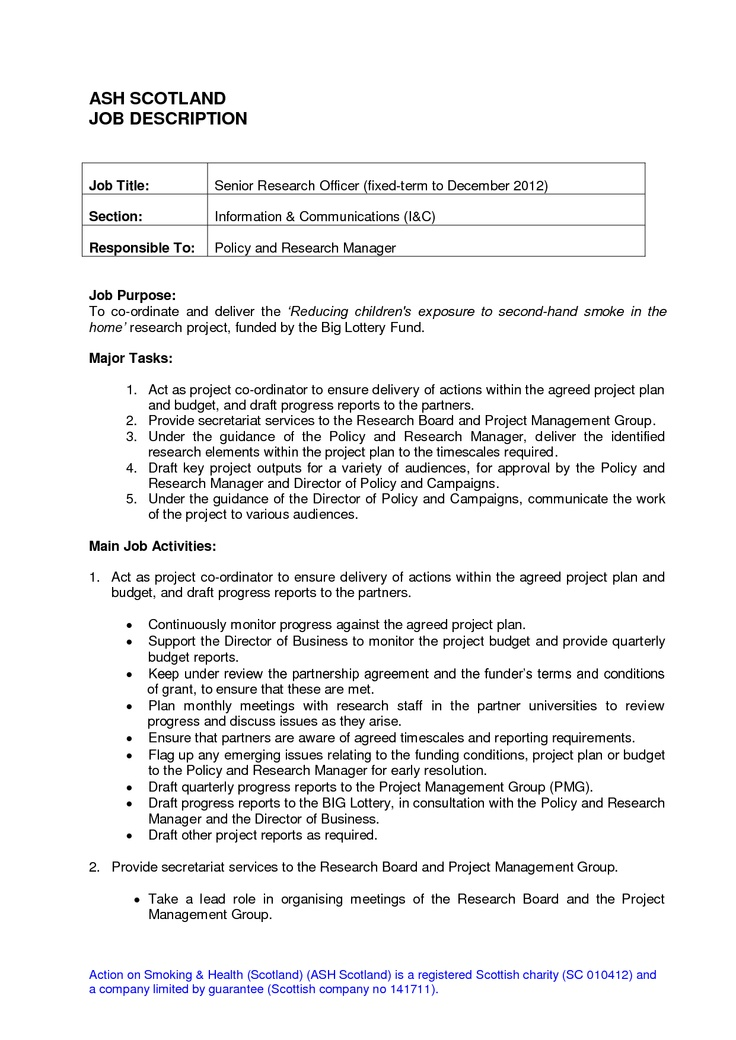 job description forms
