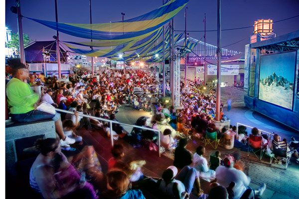 There are free movies under the stars at Penn's Landing in Philadelphia this July and August. (Photo by G. Widman for GPTMC): Outdoor Activities, Under The Stars, Penn S Landing, Movies, Summer Movie, Movie Series, Philadelphia
