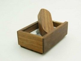 Swivel wooden custom usb drive package