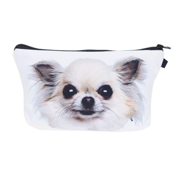 ใครสนใจเดินทางOrganizerกระเป๋าแต่งหน้าชิวาวาลูกสุนัขบูลด็อกMostert 3Dพิมพ์เครื่องสำอางล้างกระเป๋าผู้หญิงNeceser M Aquillajeกร�
