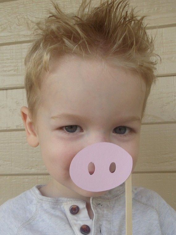 Pig Noses on a stick!  Fun party favor for Olivia the pig party.