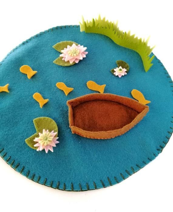 Lake Grass Reversible Felt Play Scape Mat For Small World Play Etsy Felt Play Mat Felt Crafts Small World Play