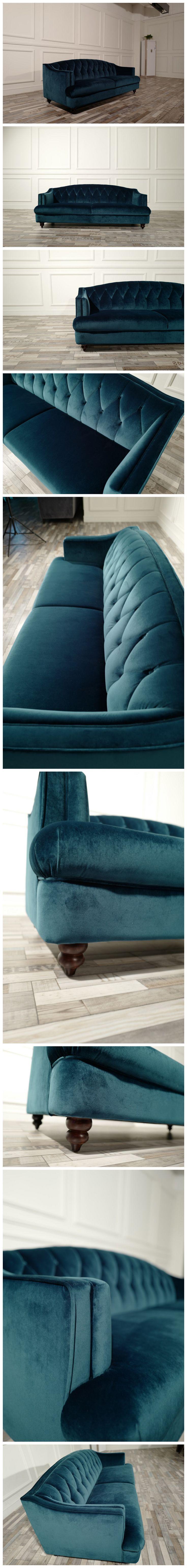 Hot Selling Traditional Teal Blue Velvet Button Tufted Upholstered Settee  new design modern sofa set #sofaset #sofa #cocheen #modernsofa #cocheendesign #livingroomsofa #furniture #newdesign #sectionalsofa #homefurniture #couch #furniturefactory #CIFF #cantonfair  contact:jennifer@cocheen.com  online store link: cocheenfurniture.en.alibaba.com