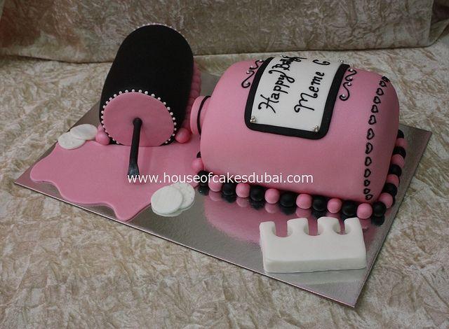 nail polish cake by The House of Cakes Dubai, via Flickr
