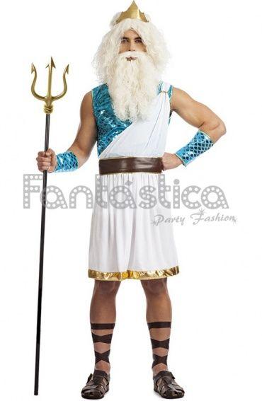 Disfraz para Hombre Neptuno Dios del Mar. Disfraces de Carnaval para Hombre.