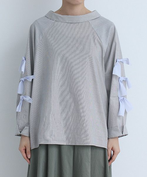 AMBIDEX Store 【 予約販売 】○ベリーニストレッチ ストライプ袖リボンBL(F マルチ99): note et silence.
