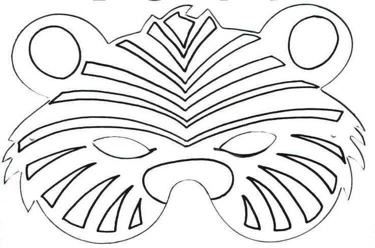 Images of Tiger Mask Template - #rock-cafe