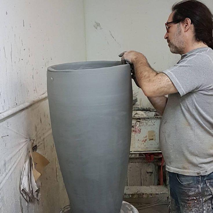 Tommy Zen in his workshop. #contemporaryceramics #art #sculpture