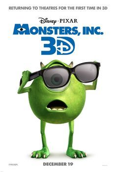 Monsters, Inc. -- Lovable Sulley and Mike Wazowski are the top scare team at MONSTERS, INC., the scream-processing factory in Monstropolis. When a little girl named Boo wanders into their world, monsters are scared silly, and its up to Sulley and Mike to get her back home.