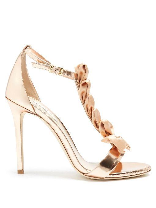 Olgana Paris La Delicate T-bar leather sandals