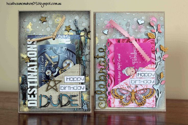Cards for holding store gift cards. Created by Heather McMahon for The Dusty Attic