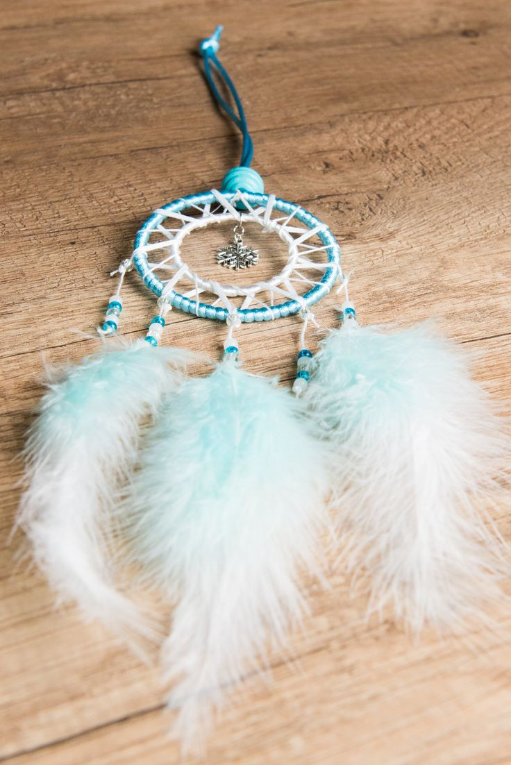 Attrape r ve dreamcatcher fait main flocon bleu et blanc accessoires de maison par odydonc - Attrape reve fait main ...