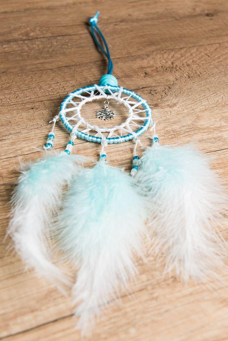 """Attrape Rêve Dreamcatcher Fait Main """"Flocon"""" Bleu et Blanc : Accessoires de maison par odydonc"""