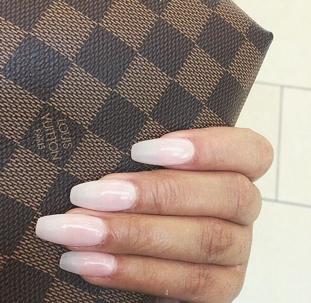 Nails X Louis Vuitton Clear Acrylic Nailsalmond