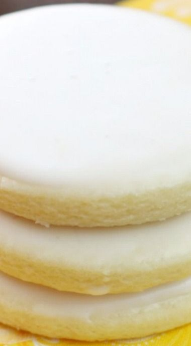Glazed Lemon Butter Cookies