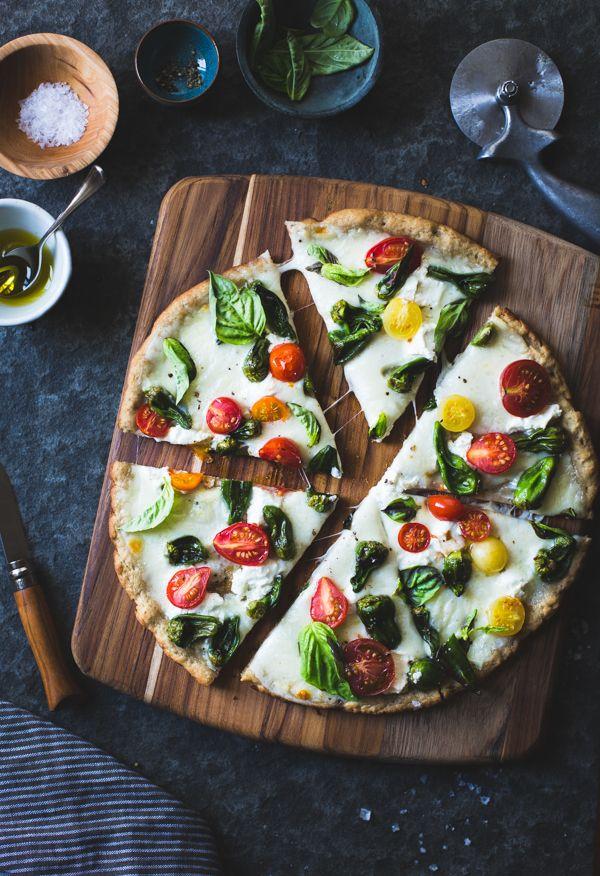 Padron Pepper Margherita pizza via The Bojon Gourmet