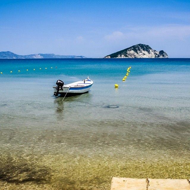 View of Marathonissi  Turtle Island from Keri beach in Zakynthos  #Zakynthos #Marathonissi #turtle #island #Keri #beaches #Sun #sand #sea #boat #sky #travel #summer #holiday #vacation #tourism #Greece #Greek #islands #destination #view #fantastic #scenery #warm #sunny #day