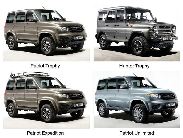 Нови модификации за UAZ Patriot и Hunter