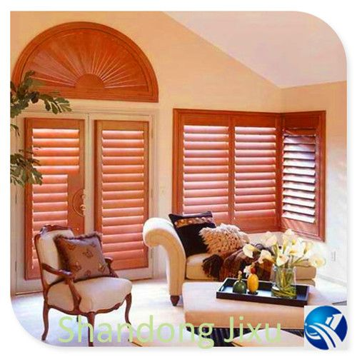 Horizontal opening wooden interior plantation shutters cost from China