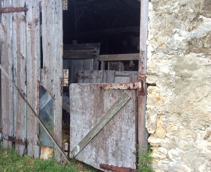 Old stable door at historic Mundoo Island Cattle Station on the Coorong, South Australia