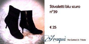 Stivaletti blu scuro n°39 € 25
