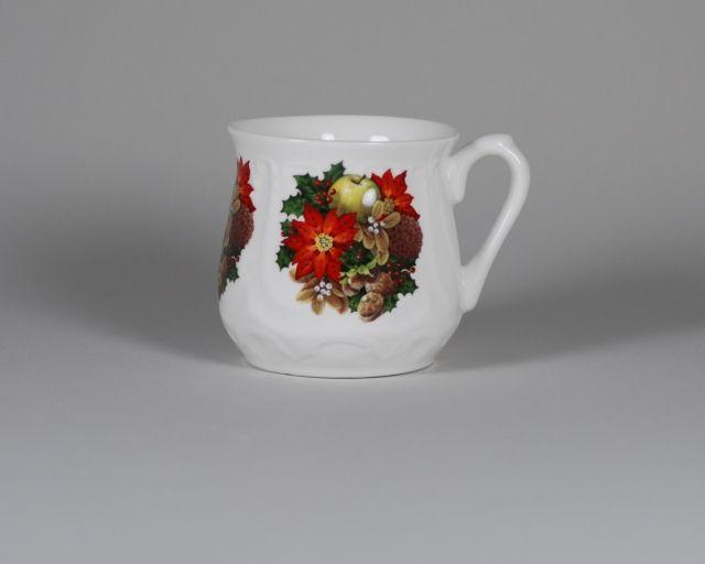 Kubek śląski świąteczny stroik (duży) - Porcelana Ćmielów