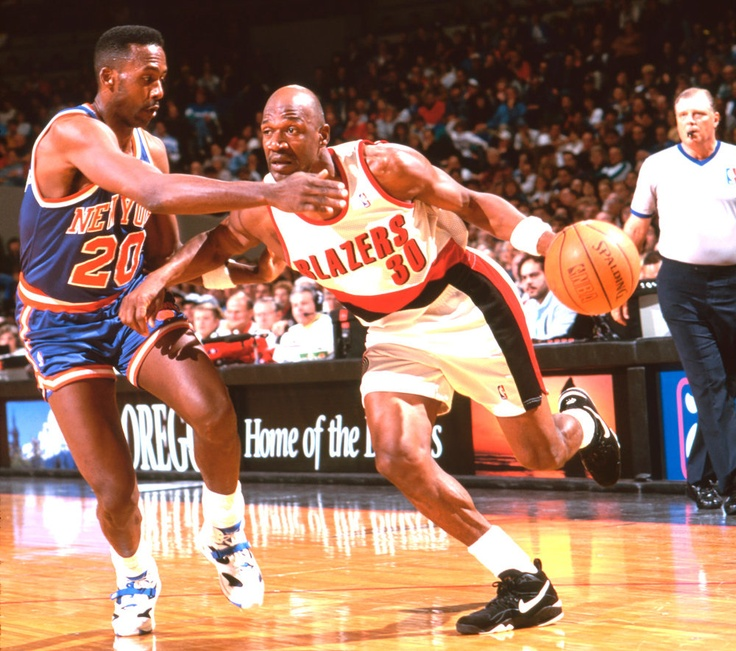 Terry Porter from downtown. Raining threes or assists, loved watching his game. Did not love watching him as a TV guy but glad he is back to coaching.