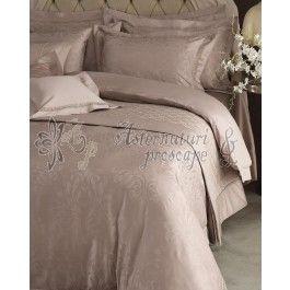 Valeron Rene cupru - set cuvertura de pat de lux din bumbac Pima