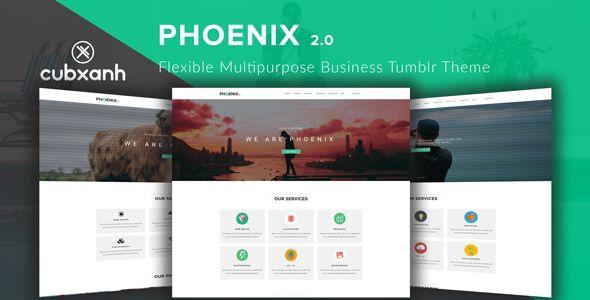Phoenix - Flexible Multipurpose #Business #Tumblr Theme