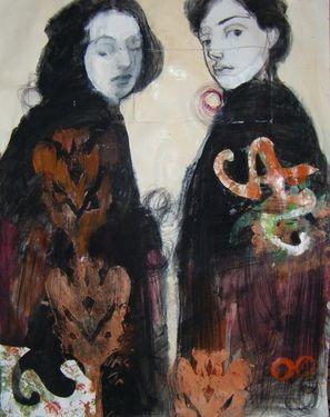"Saatchi Online Artist: Fotini Hamidieli; Charcoal, 2012, Drawing ""part of me"""