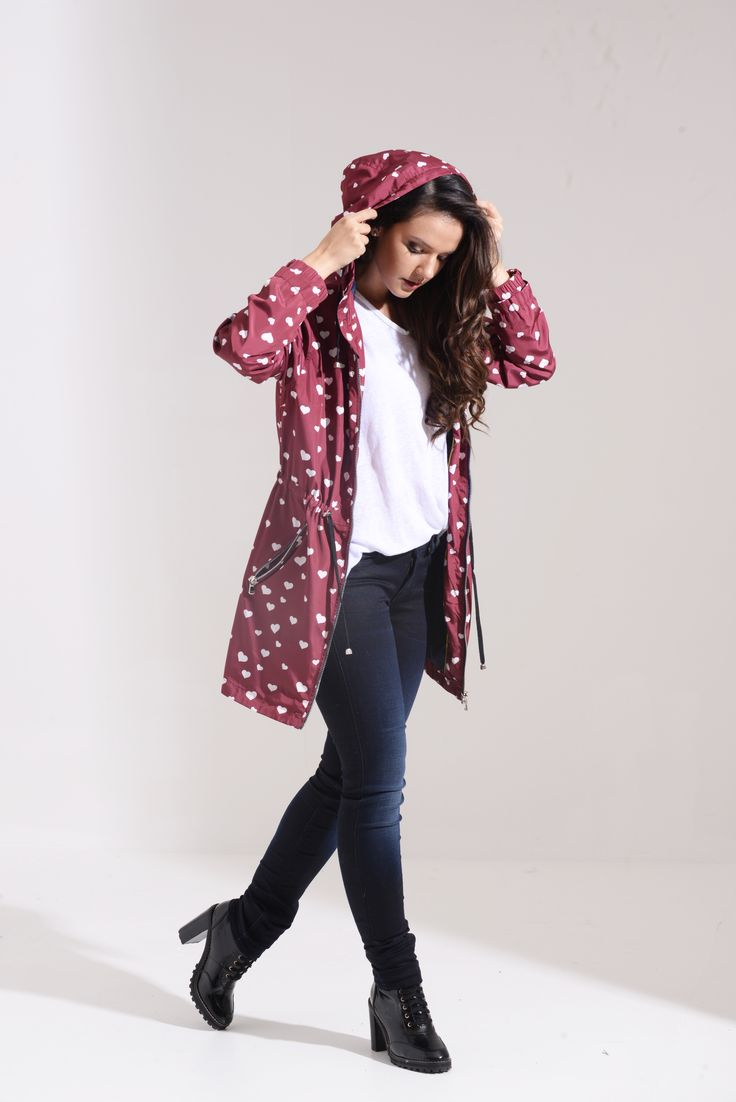 Mulberry Hearts Prints Water Resistant Festival Parka SKU:03SMULHEARTS-PARKA Price: £24.99