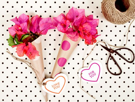 mother's day bouquet wrap with template