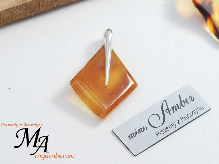Pendant natural Baltic Amber & Silver925  + Certificate *11656 by myamberEU on Etsy